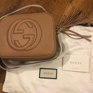 Gucci Disco Bag Camelia. Brand new in box.